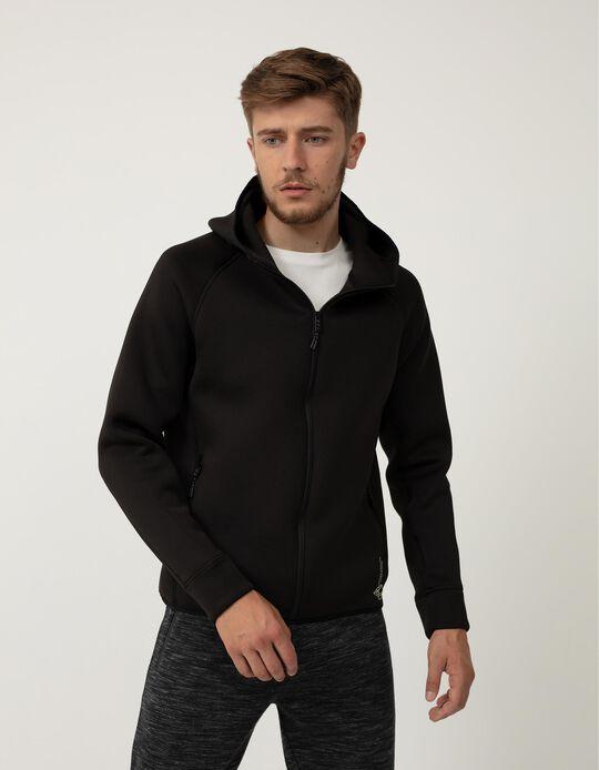 Waterproof Techno Jacket, Men, Black