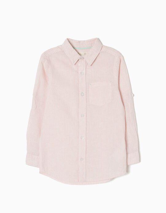 Camisa Linho Riscas