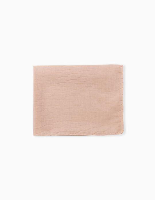 Plain Sateen Scarf, Women, Pink