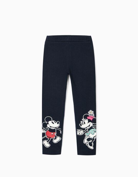 Leggings for Girls, 'Mickey & Minnie', Dark Blue
