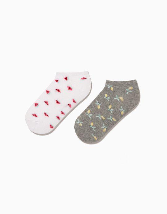 2 Pairs of Assorted Trainer Socks, Women