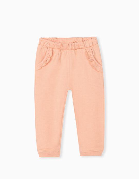 Ruffled Joggers, Baby Girls, Pink