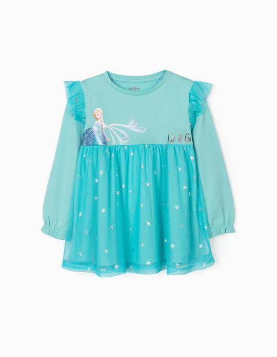 Sweatshirt with Tulle for Girls 'Frozen', Blue