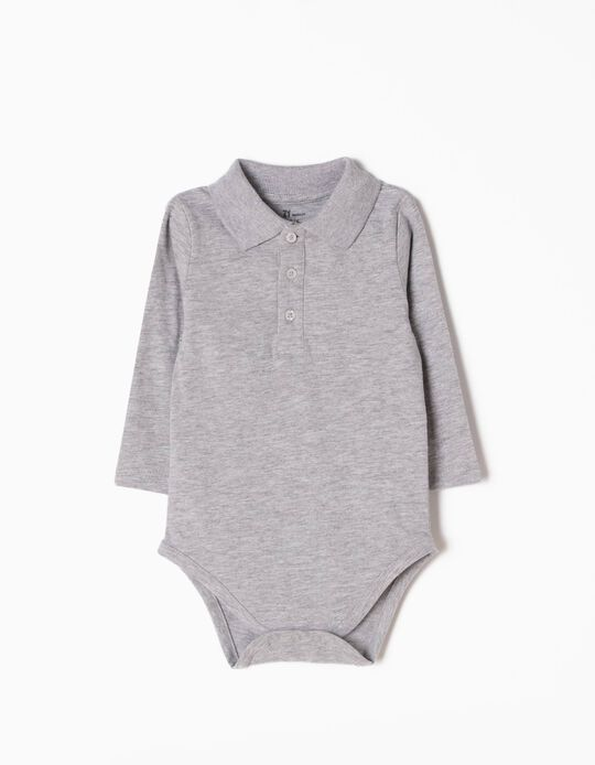 Grey Long-Sleeved Bodysuit