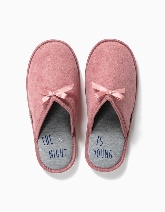 Bedroom Slippers with Bow