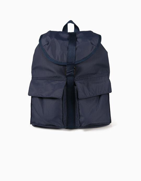 Mochila em nylon com bolsos