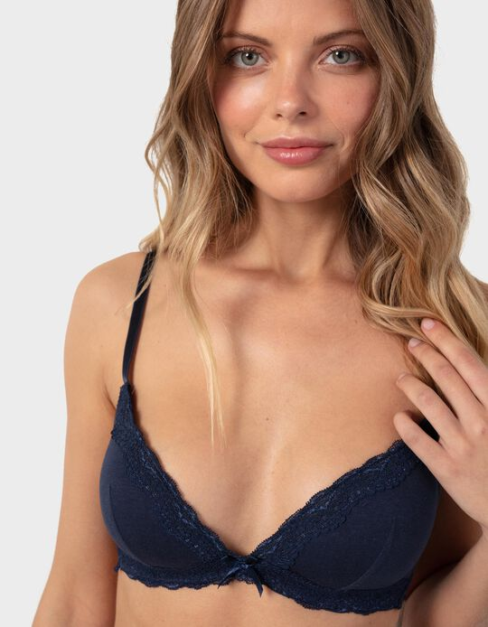 Plain Bra with Lace