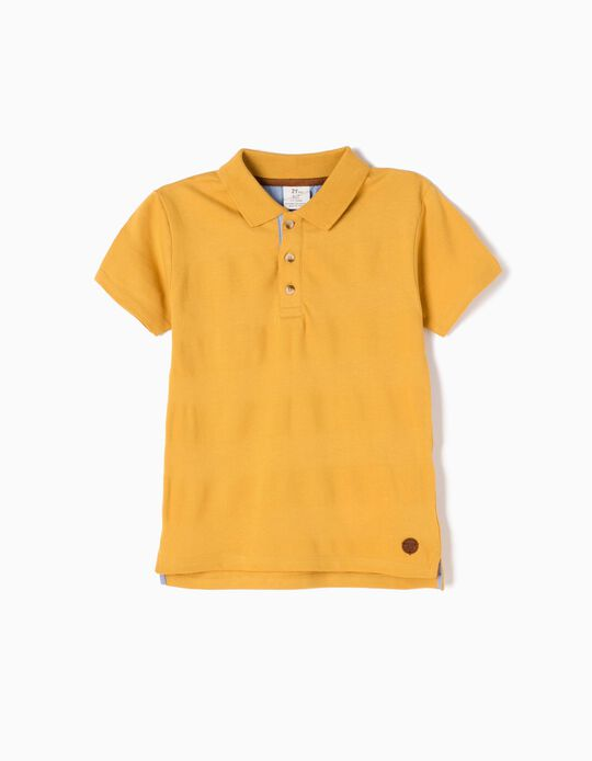 Mustard-Yellow Short-Sleeved Polo Shirt