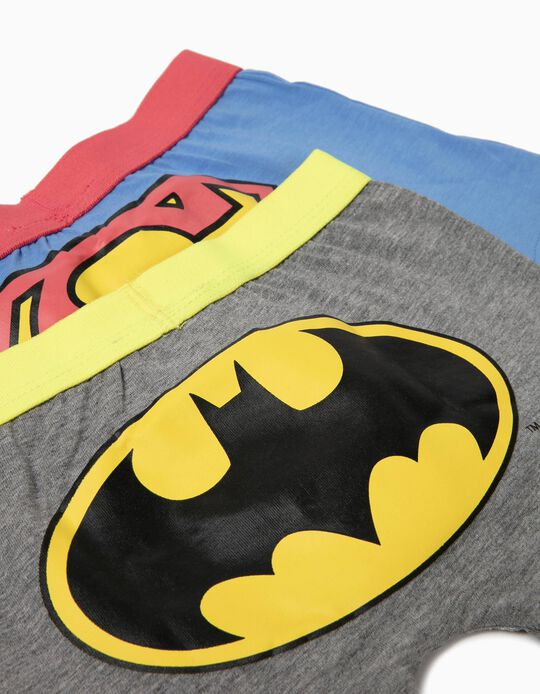 Pack of 2 Batman & Superman Boxers