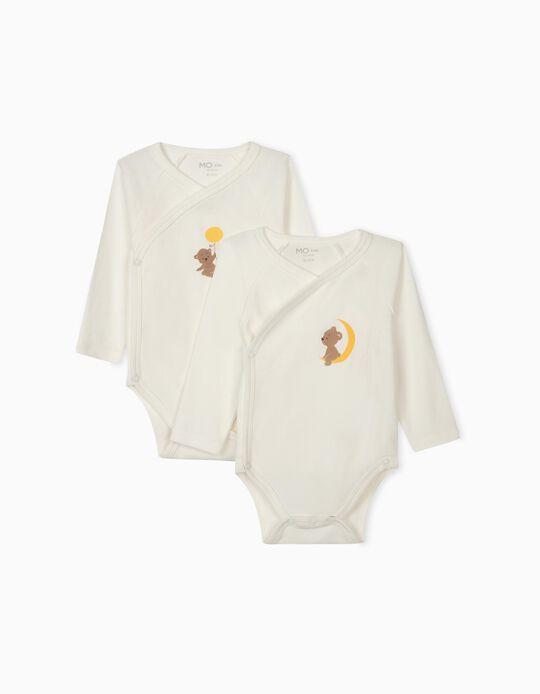 2 Kimono Bodysuits for Newborn Baby Boys