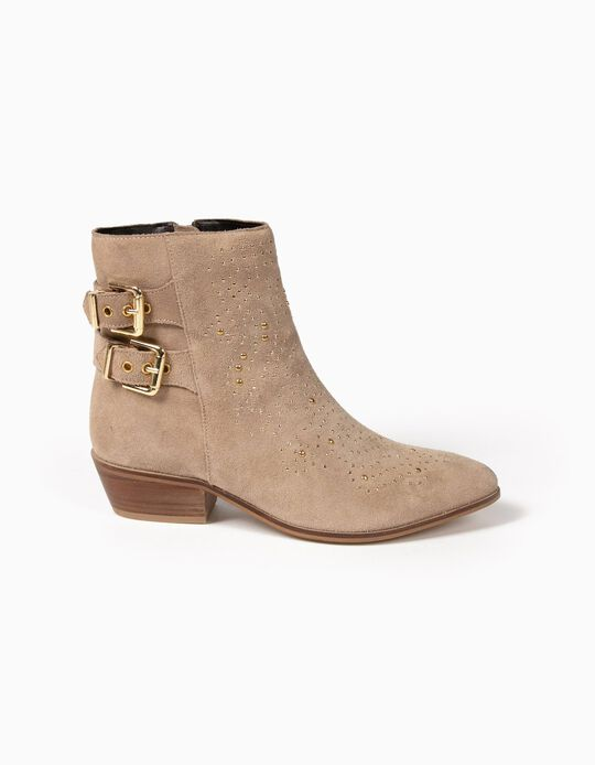 Ankle Boots with Decorative Studs