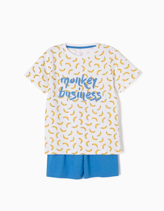 Pijama Manga Curta Monkey Business