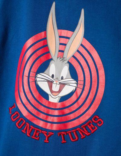 Casaco de Felpa com Capuz Looney Tunes Azul