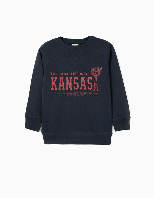 Sweatshirt for Boys 'Kansas', Dark Blue