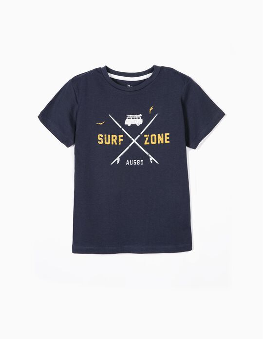 T-shirt for Boys 'Surf Zone', Dark Blue