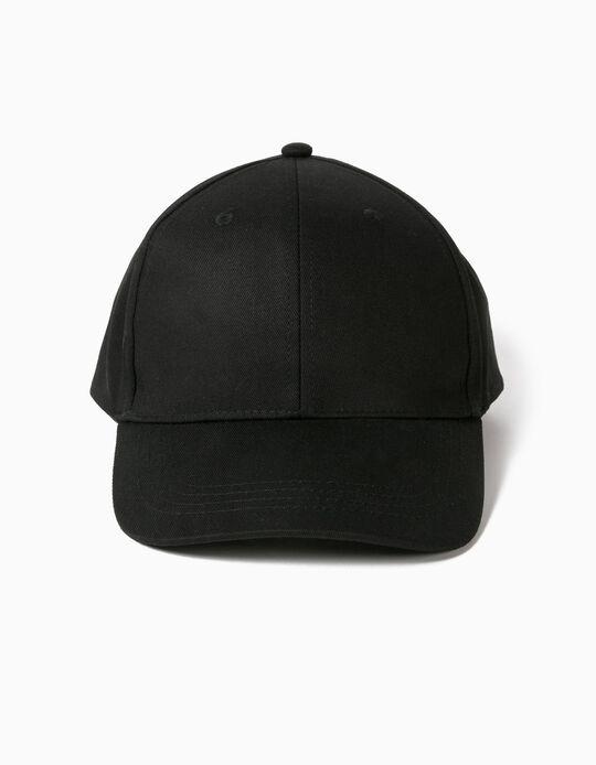 BASIC CANVAS CAP BLA, BLACK2, 58