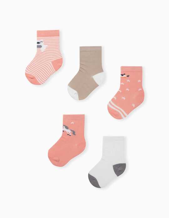 5 Pairs of Assorted Socks for Babies
