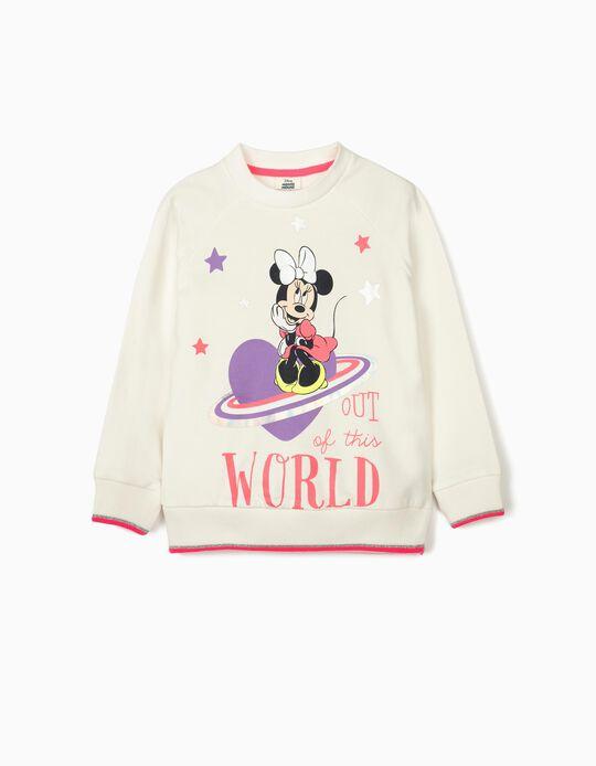 Sweatshirt para Menina 'Minnie World', Branco