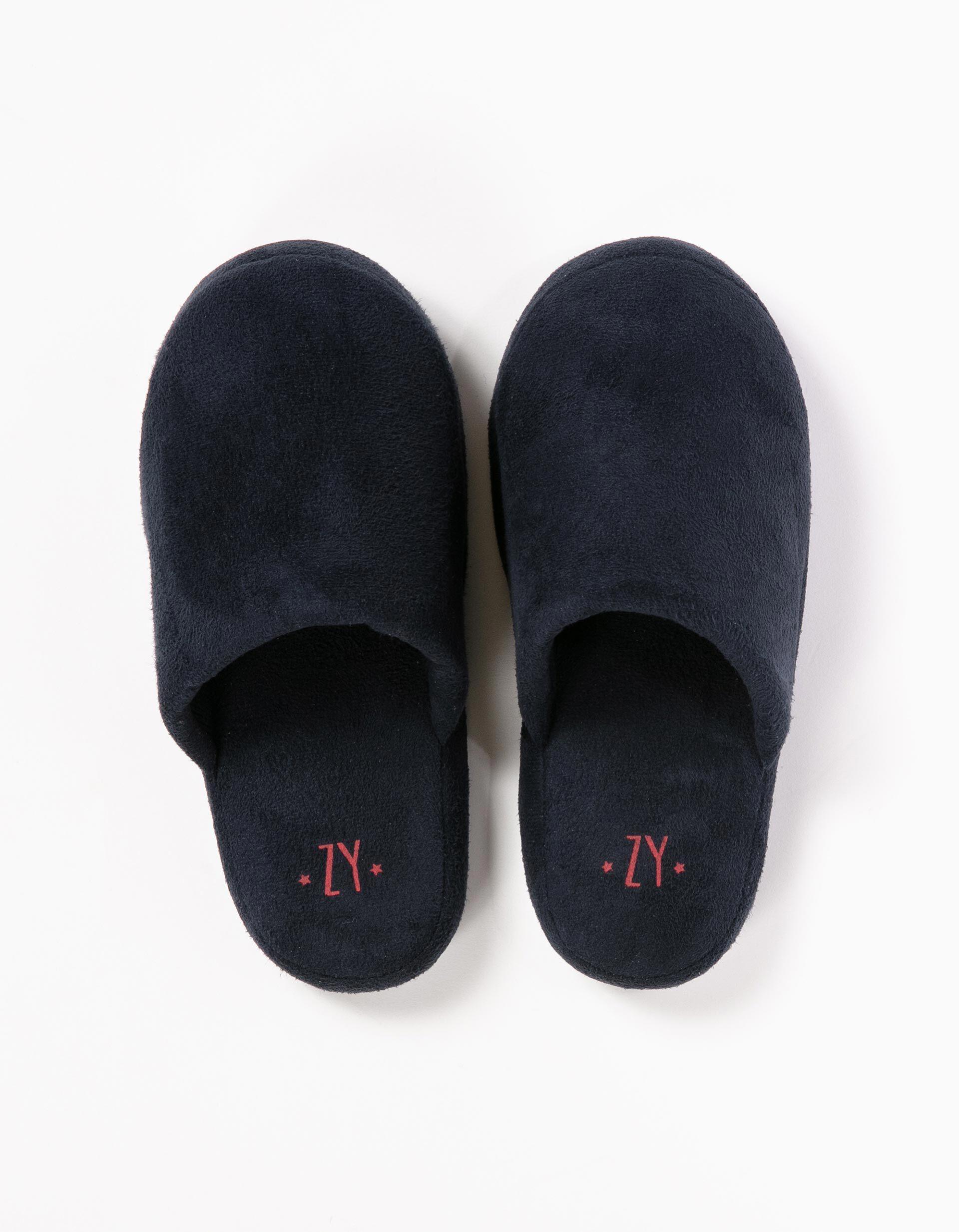 Dark Blue Bedroom Slippers | MO Online