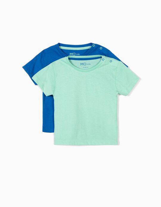 Pack de 2 t-shirts lisas