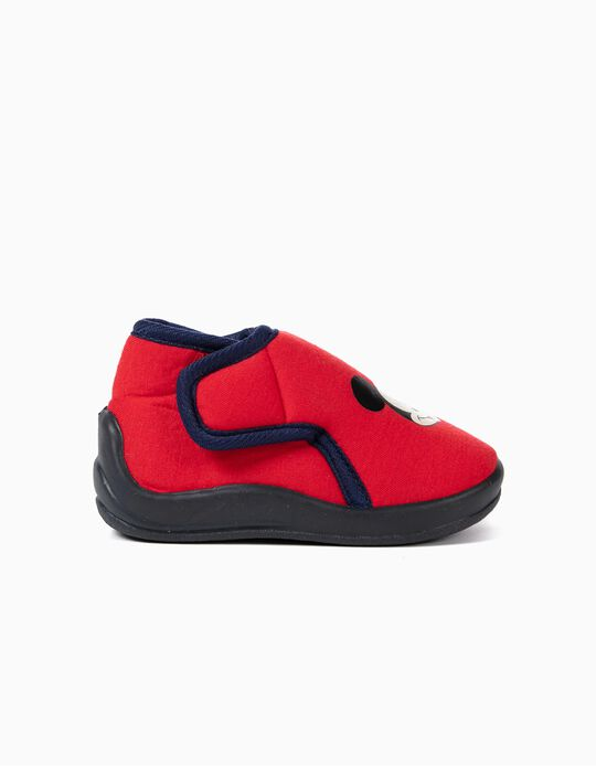 Slippers Boots for Baby Boys 'Mickey Christmas', Red