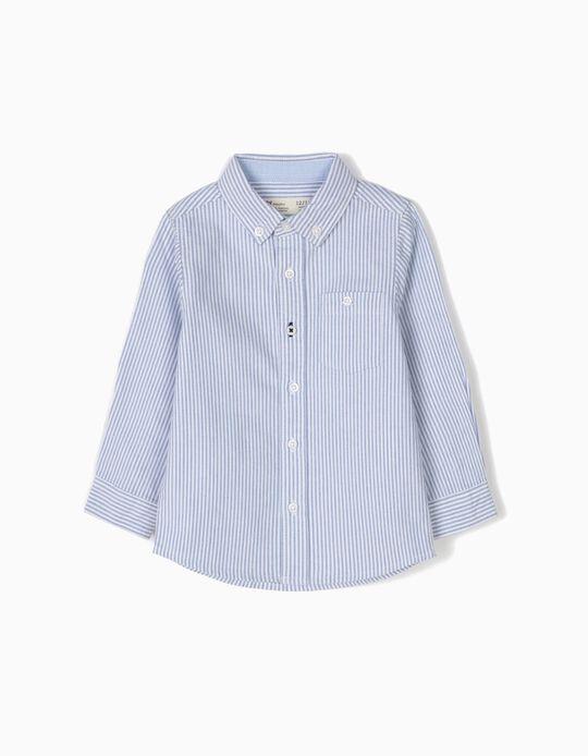 Camisa Bebé Menino Riscas Azuis B&S