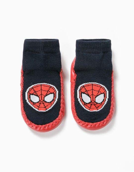 Meias-pantufa Antiderrapantes para Menino 'Spiderman', Azul/Vermelho