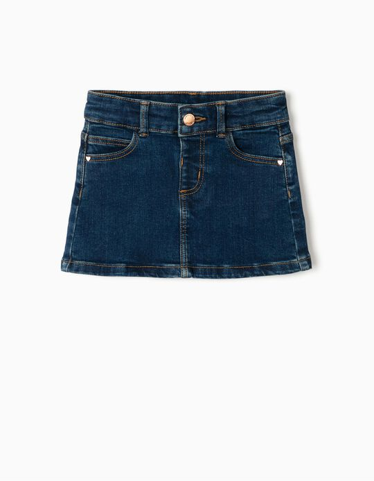Denim Skirt for Baby Girls, Blue
