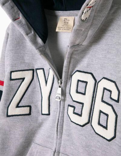 Casaco de Felpa Cinzento ZY 96