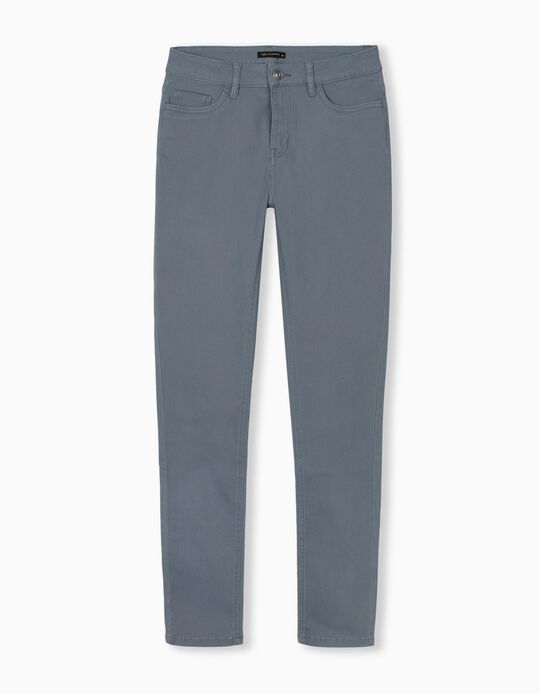 Twill Trousers, Blue