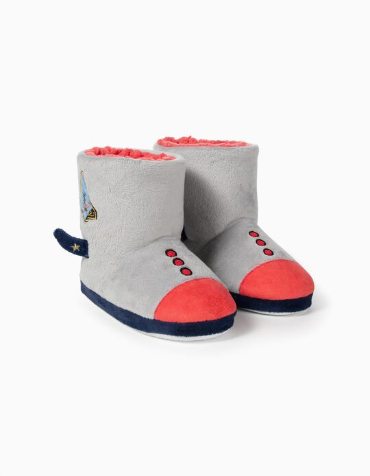 Slipper Boots for Boys 'Astronaut', Grey