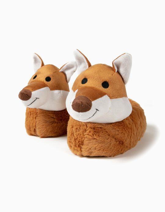 Pantufas para Menino 'Fox', Castanho