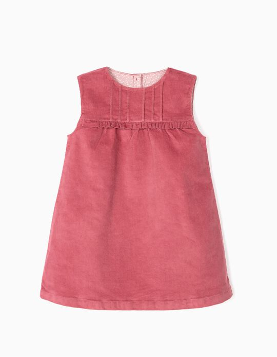 Corduroy Dress for Baby Girls, Pink