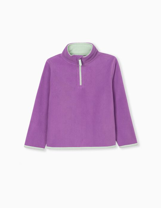 Polar Fleece Sweatshirt for Kids, Lilac