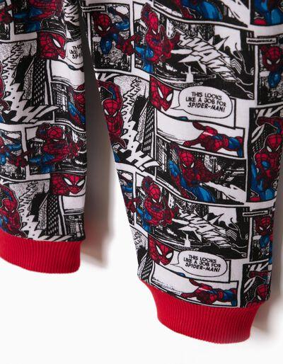 Pijama Manga Comprida e Calças Spider-Man Vermelho