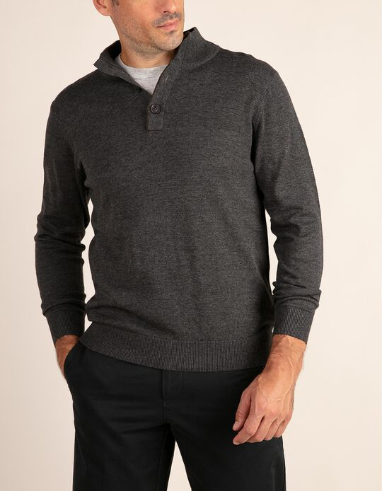 High Neck Jumper with Elbow Patches