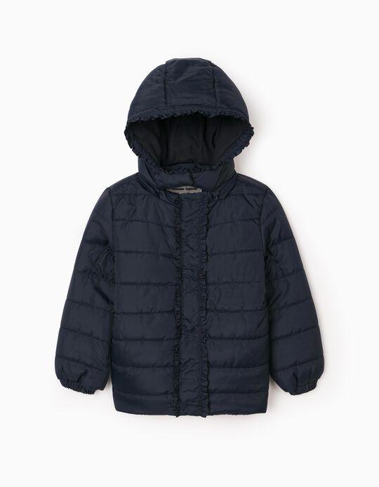 Padded Jacket for Girls, Dark Blue