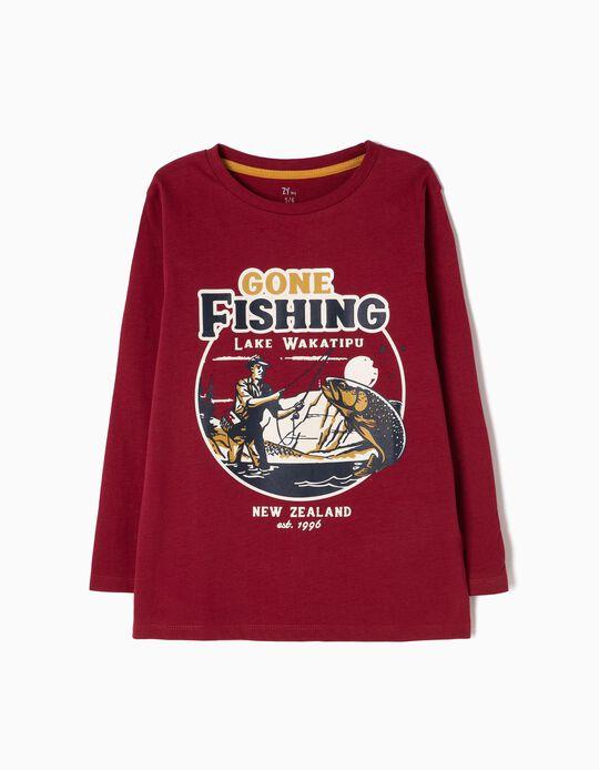 T-shirt Manga Comprida Gone Fishing
