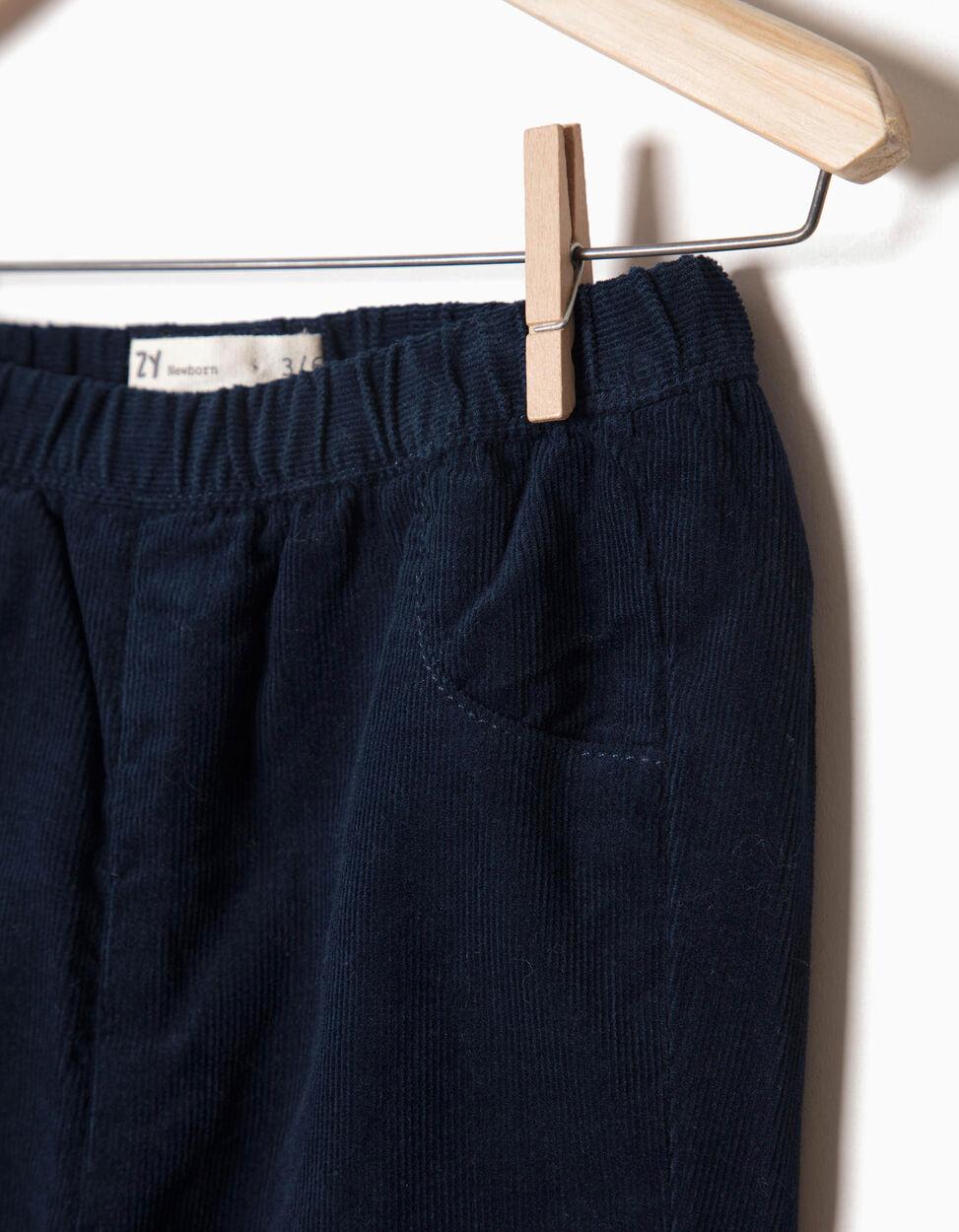 Calças Bombazine Azul