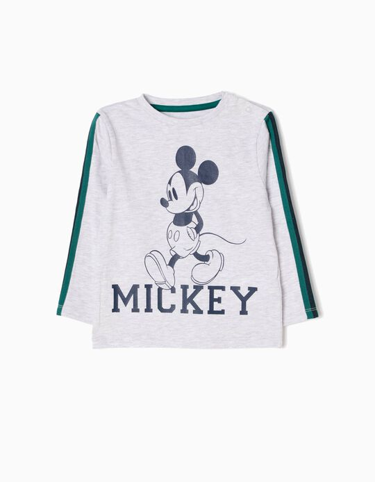 Grey Long-Sleeved Top, Mickey