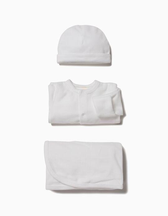 Conjunto 3 Peças 1st Clothes Branco