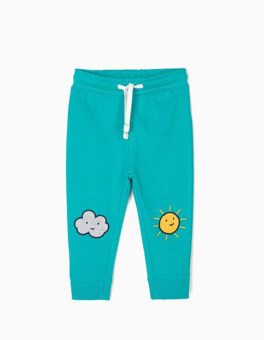Calças de Treino para Bebé Menino 'Sun & Cloud', Azul