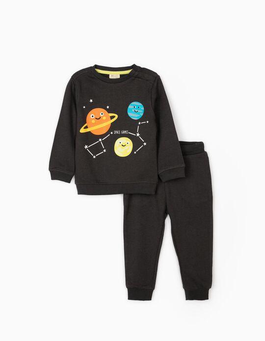 Fato de Treino para Bebé Menino 'Space Games', Cinza Escuro