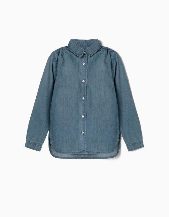 Denim Shirt for Girls, Blue
