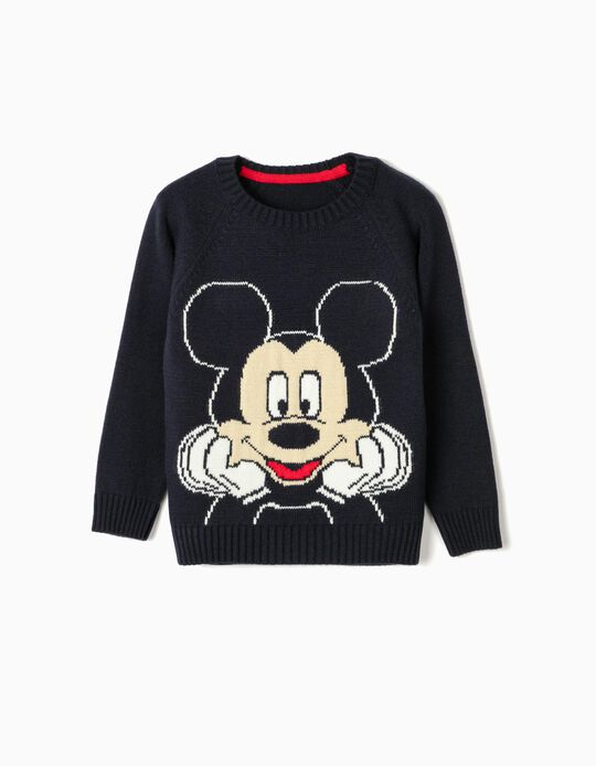 Knit Jumper for Boys 'Mickey', Dark Blue