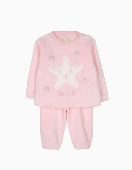 Pijama Camisola e Calças Dog Star Rosa