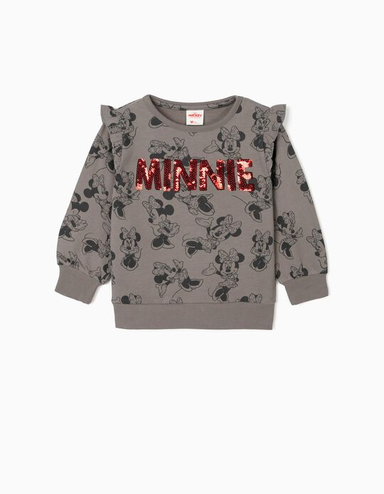 Sweatshirt for Girls 'Minnie', Grey