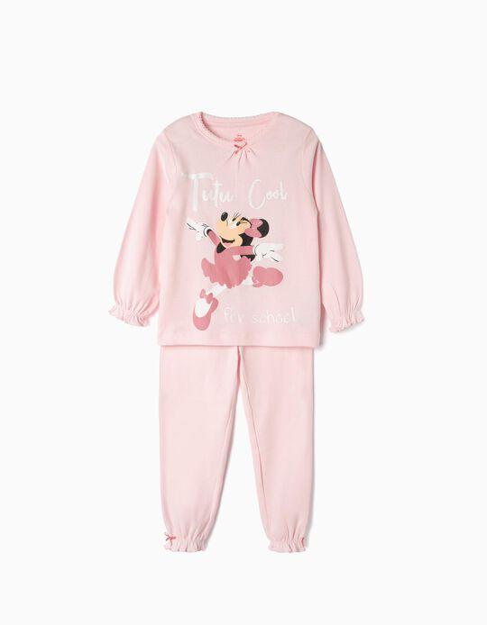 Pijama Manga Comprida para Menina 'Minnie',  Rosa