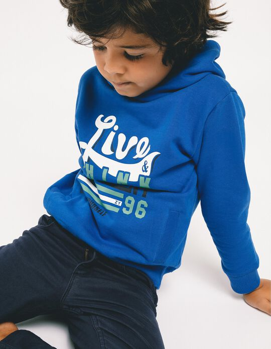 Sweatshirt com Capuz para Menino 'Think Different', Azul