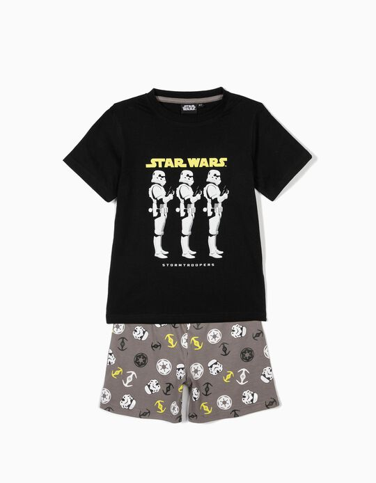 Pijama para Menino 'Star Wars', Preto e Cinzento